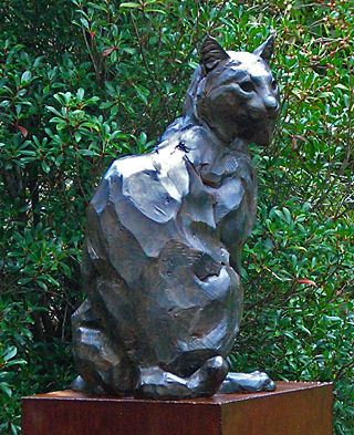 Steadfast - Bobcat Sculpture